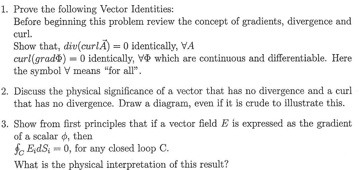 1180x559 Solved Prove The Following Vector Identities Before Begi