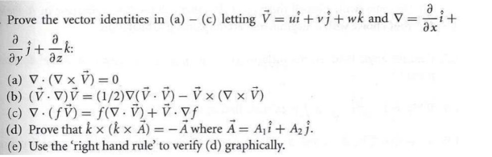 994x318 Solved Prove The Vector Identities In (A)