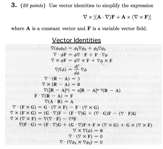 638x584 Solved Use Vector Identities To Simplify The Expression W