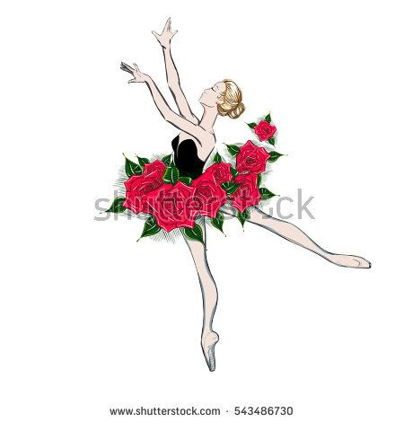 450x470 Free Hand Drawing Of A Ballerina. Vector Illustration Of A Ballet