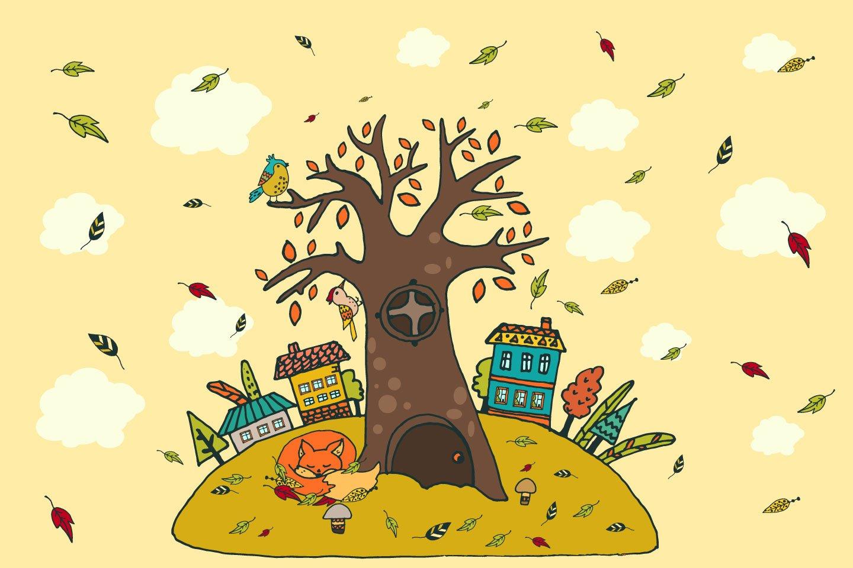 1440x960 Happy Autumn Free Vector Illustration