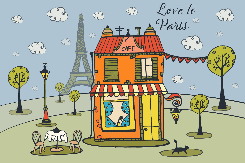 1440x960 Love To Paris Free Vector Illustration