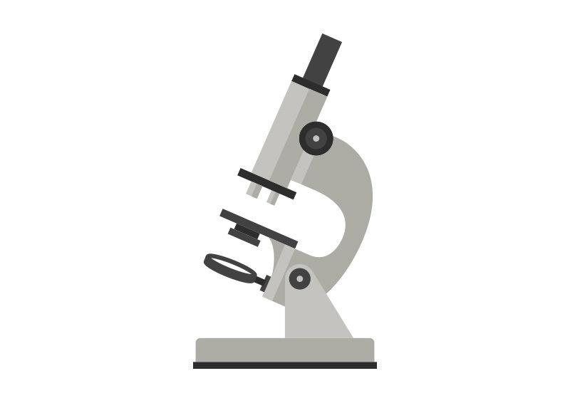 800x566 Microscope Free Flat Vector Illustration