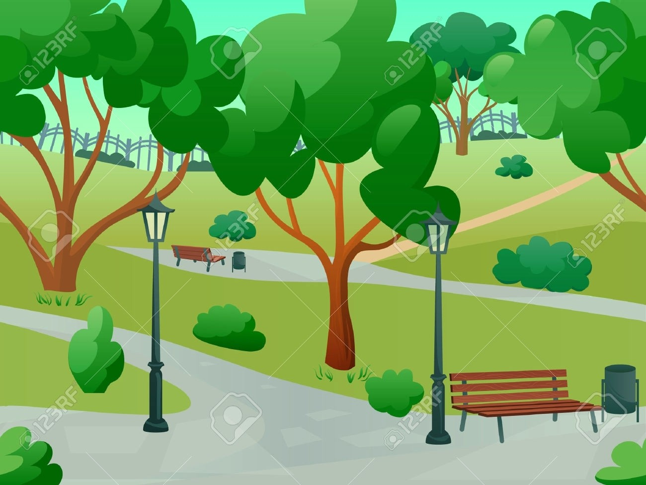 1300x975 Park Clipart 20 G Nature Stock Vector Illustration And Royalty