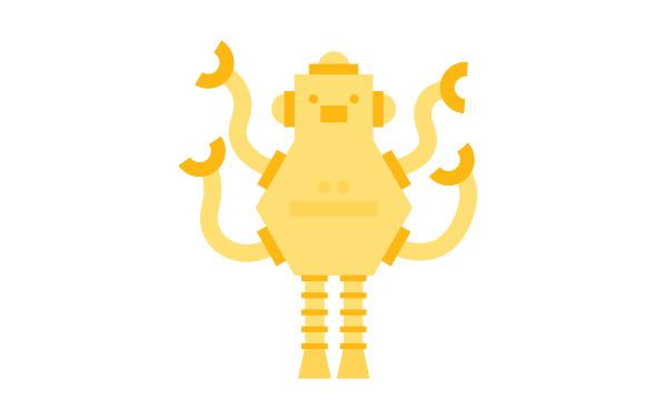 580x378 Robot Illustration Free Vector Set No Cost Royalty Free Stock