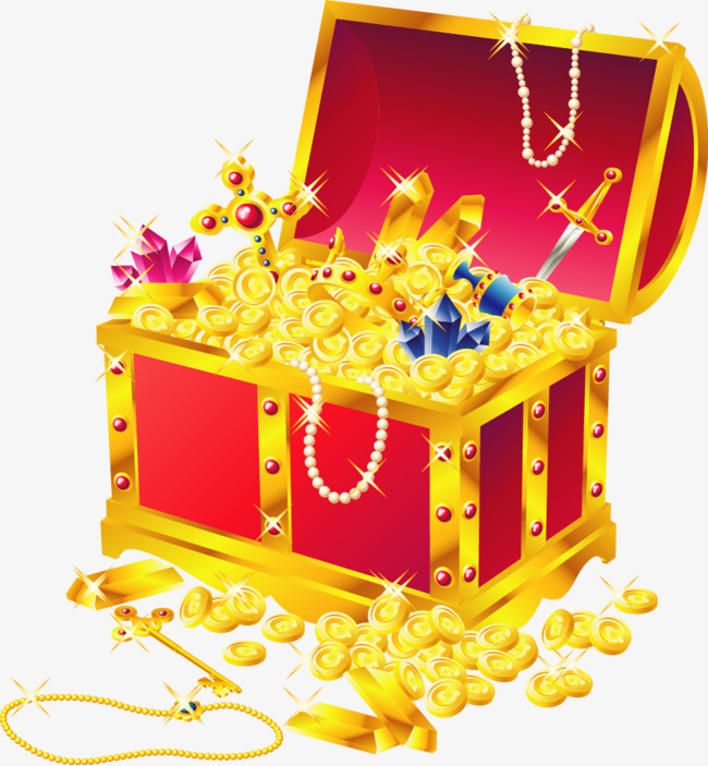 650x703 Treasure Chest Of Gold Coins Vector Illustration, Vector Gold