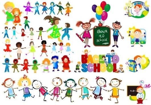 530x368 Vector Children Free Vector Download (1,122 Free Vector) For