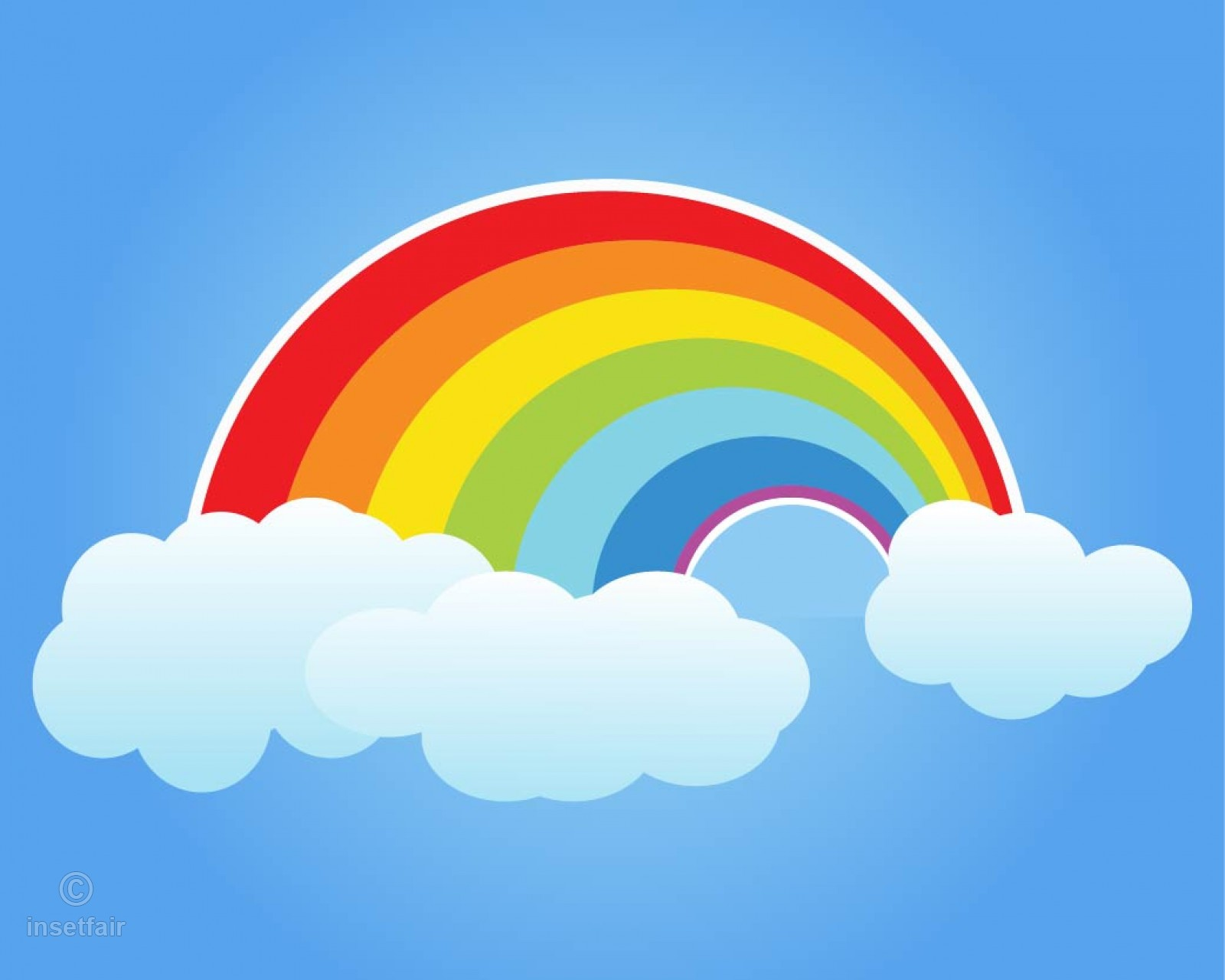 1600x1280 Cartoon Colorful Rainbow Vector Illustration For Free Download