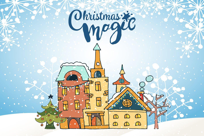 1440x960 Christmas Magic Free Vector Illustration