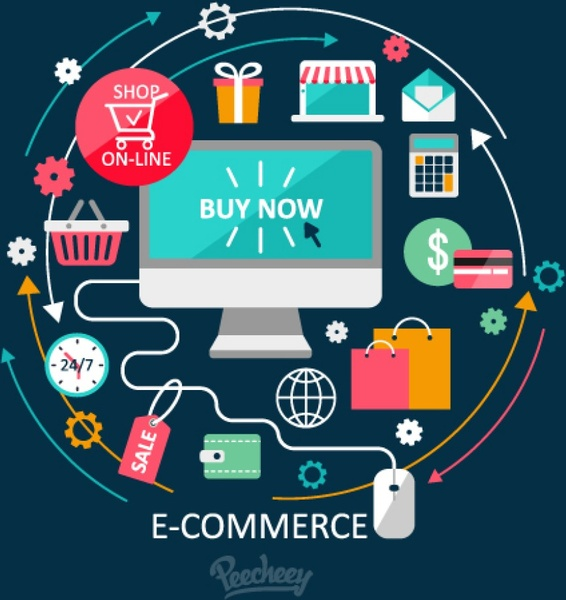 566x600 Concept Of Online Shopping Illustration Free Vector In Adobe
