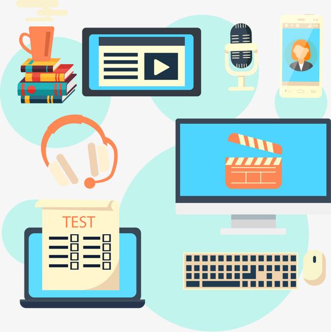650x652 Online Training Vector Illustration, Online Training Illustration