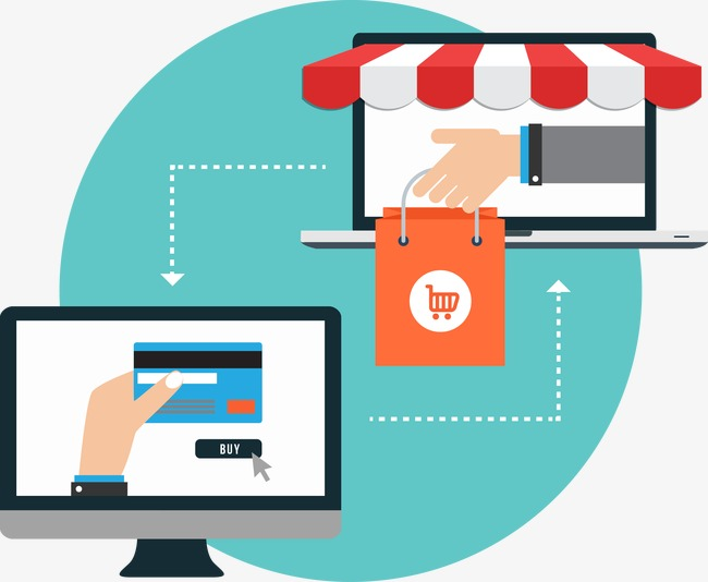 650x534 Creative Online Shopping Vector Illustration Material, Shopping