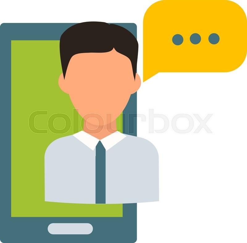 800x786 Online Teacher Vector Illustration. Online Teacher Isolated On