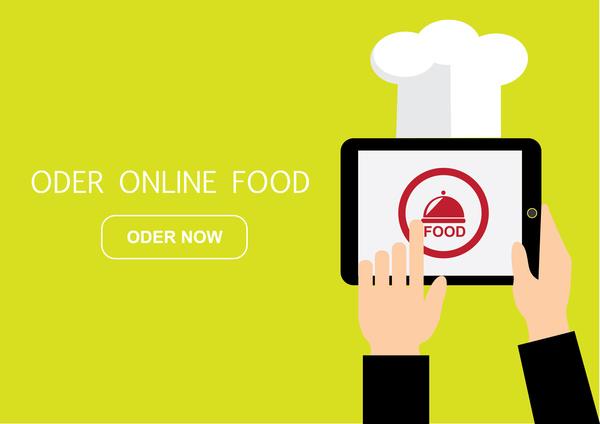 600x424 Order Food Online Free Vector In Adobe Illustrator Ai ( .ai