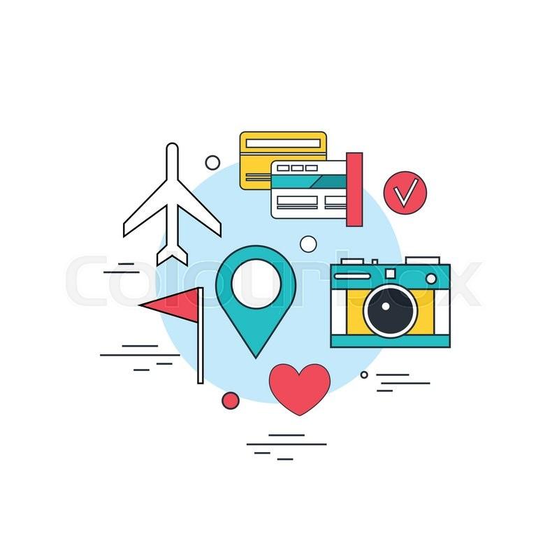 800x800 Travel Tourism Technology Background Online Ticket Booking Modern