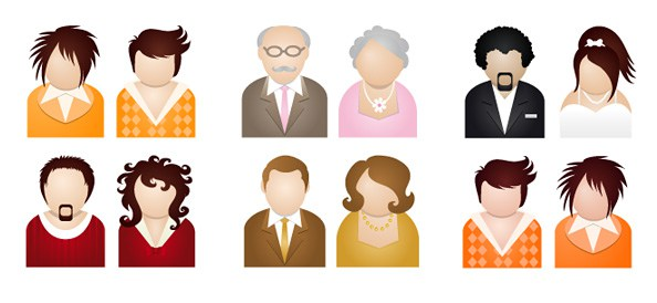 Vector Illustrations Of People