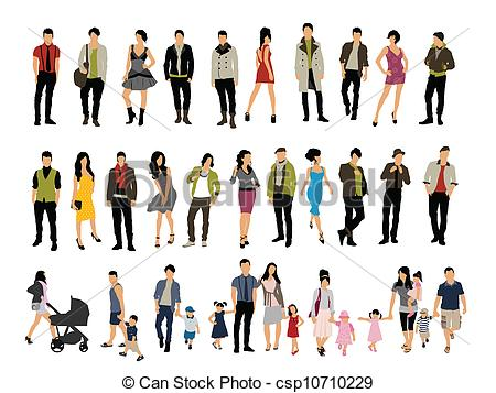 450x357 People. Different People Vector.