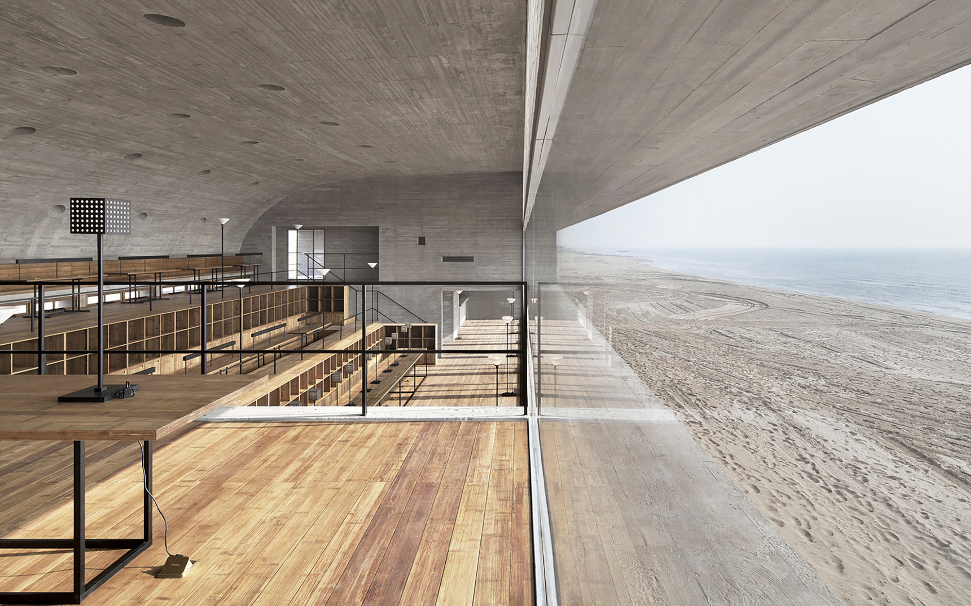 2000x1248 Seashore Library Vector Architects Archdaily