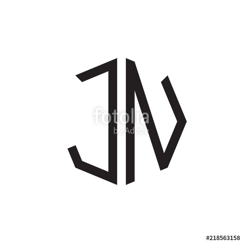 500x500 Two Letter Jn Octagon Logo Stock Image And Royalty Free Vector