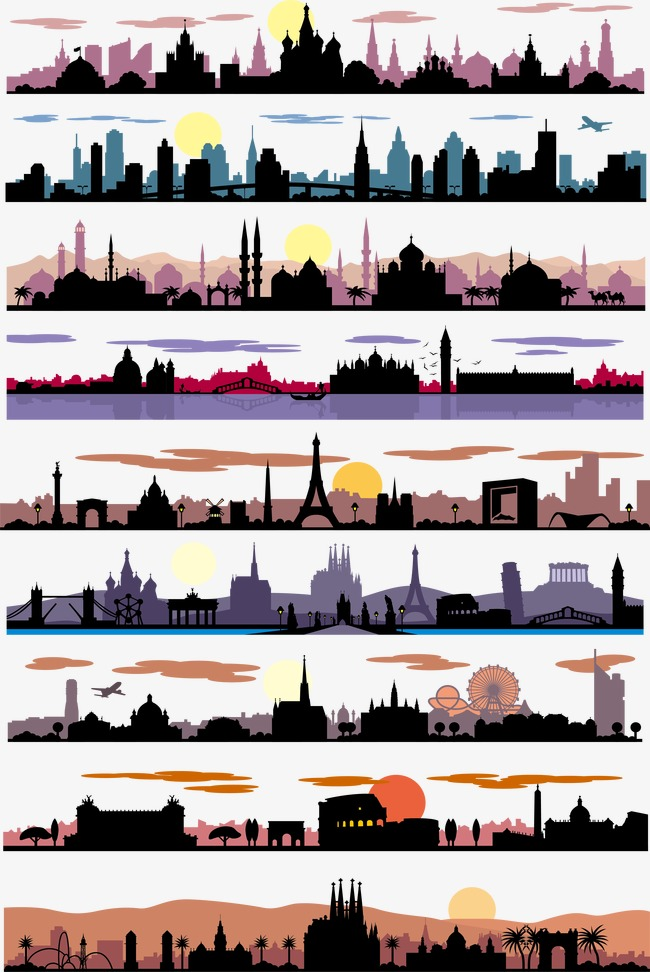 650x972 City Silhouette Png Images Vectors And Psd Files Free Download