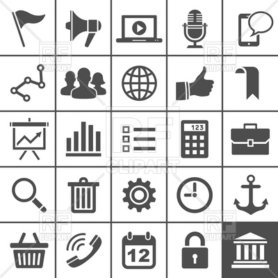 400x400 Simple Universal Icons Set