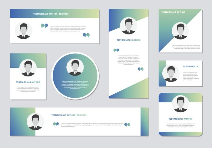 700x490 Website Testimonials Box Template Vector