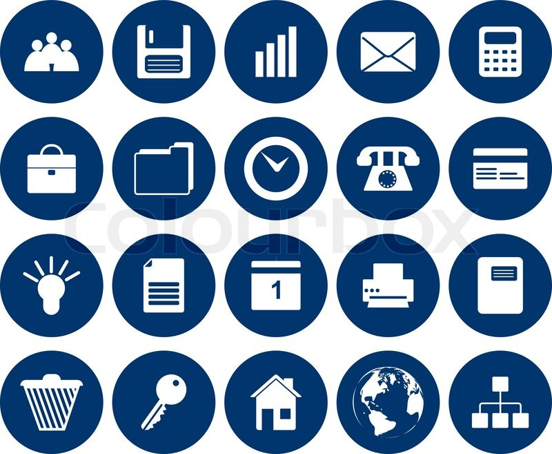 800x657 Business And Office Set Of Different Vector Web Icons Stock