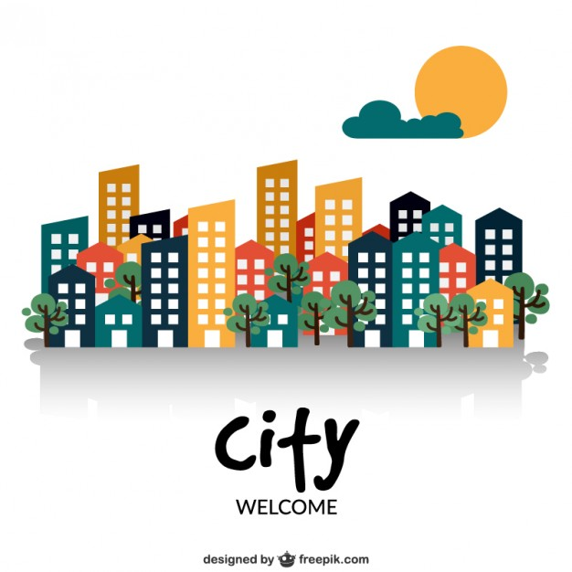 626x626 Welcome To The City Vector Free Download