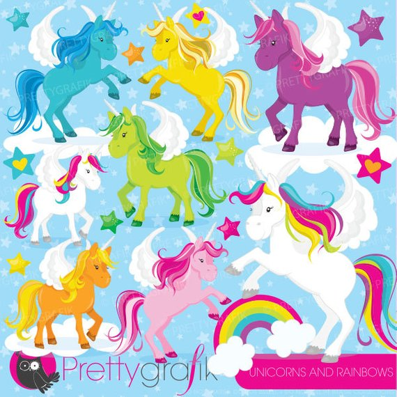 570x570 Unicorns Clipart Commercial Use, Unicorn Vector Graphics, Rainbow