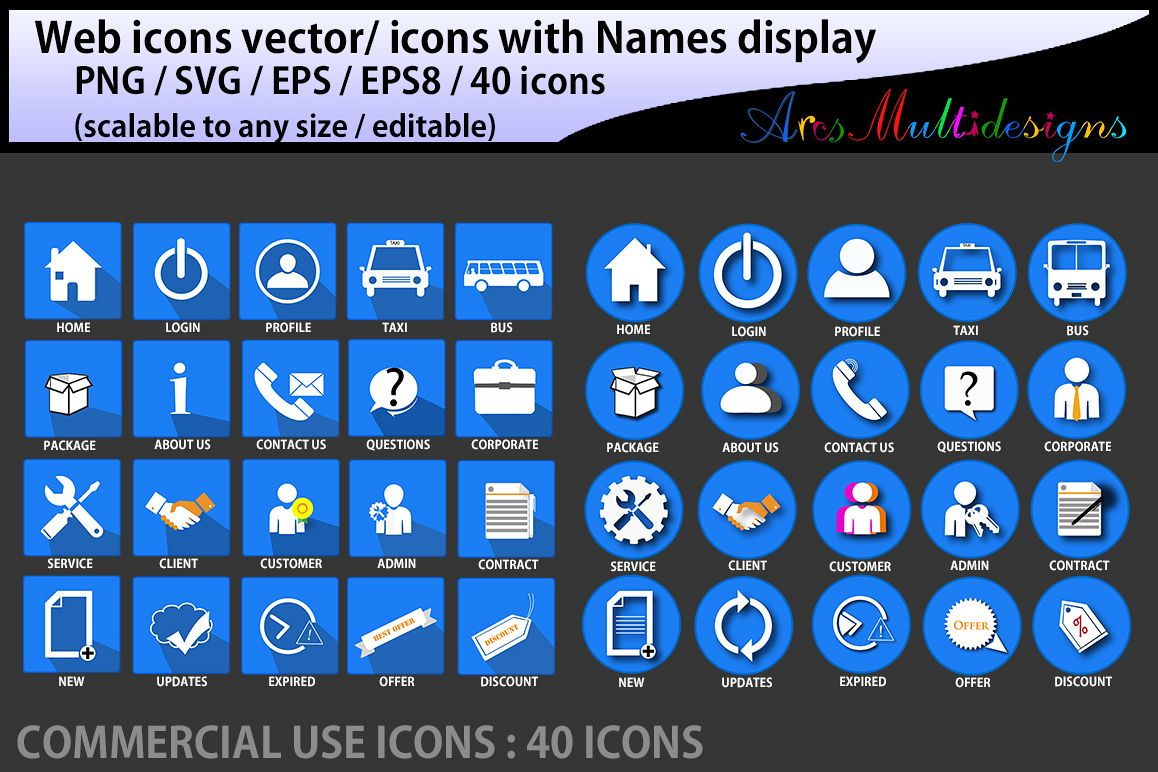 1158x772 Web Icons Vector Commercial Use Svg Png Icons With Name