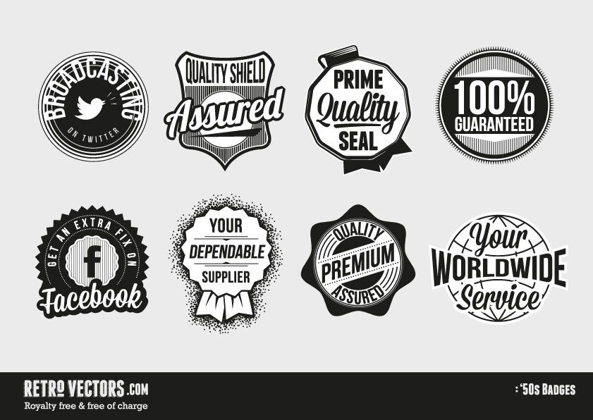 841x596 50s Badges Royalty Free Free Of Charge Commercial Use Free