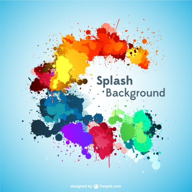 626x626 Paint Splashes Background Vector Free Download