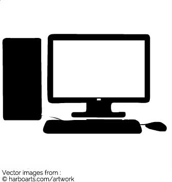 335x355 Download Computer With Screen And Keyboard