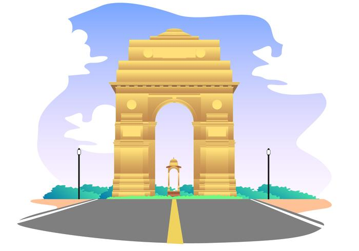 700x490 India Gate Free Vector