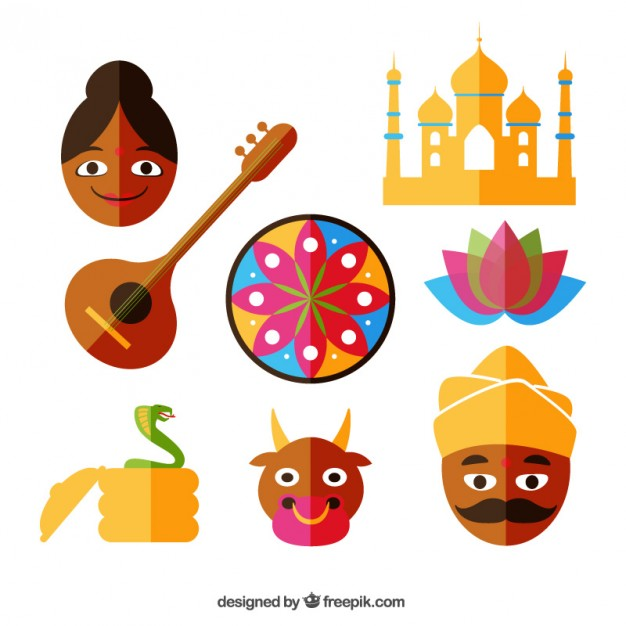 626x626 Indian Icons Set Vector Free Download