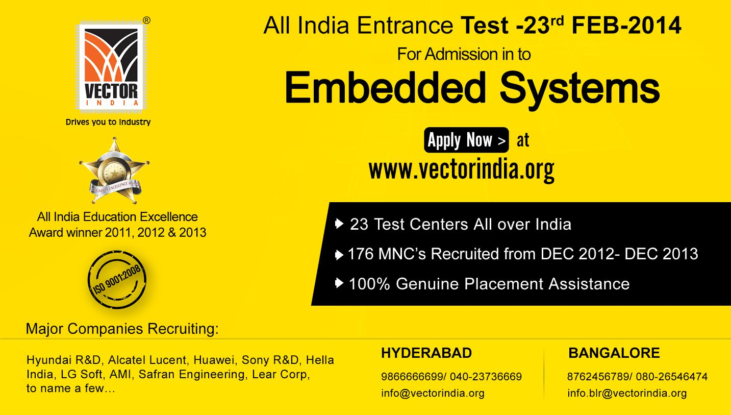 1433x813 All India Entrance Test For Embedded System In Vector India