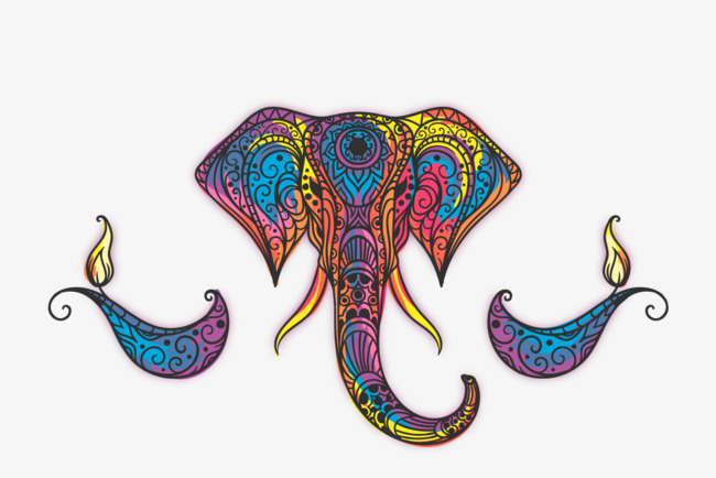 650x434 Vector Painted Elephant, Hd, Vector, India Png And Vector For Free