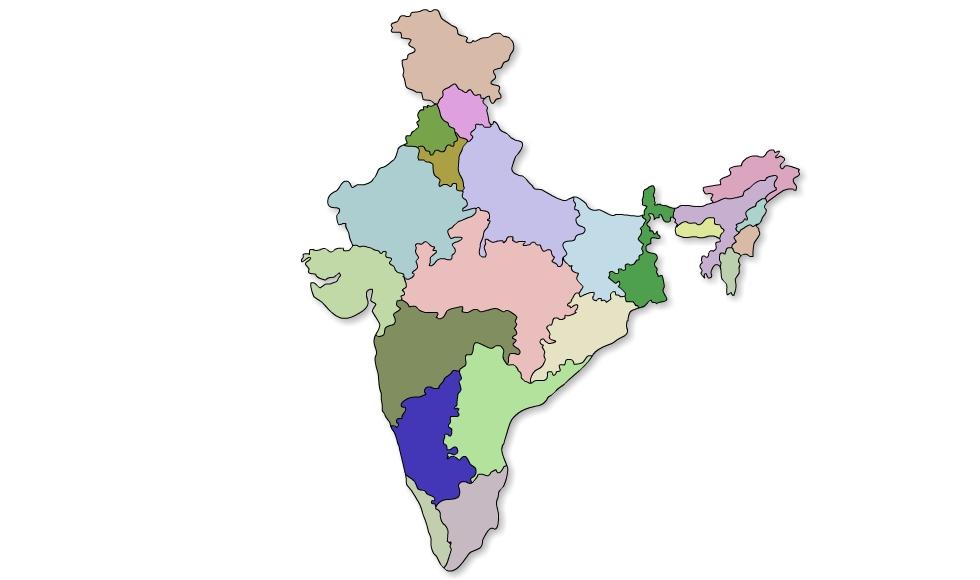 980x580 Xtremezoom Vector India Map