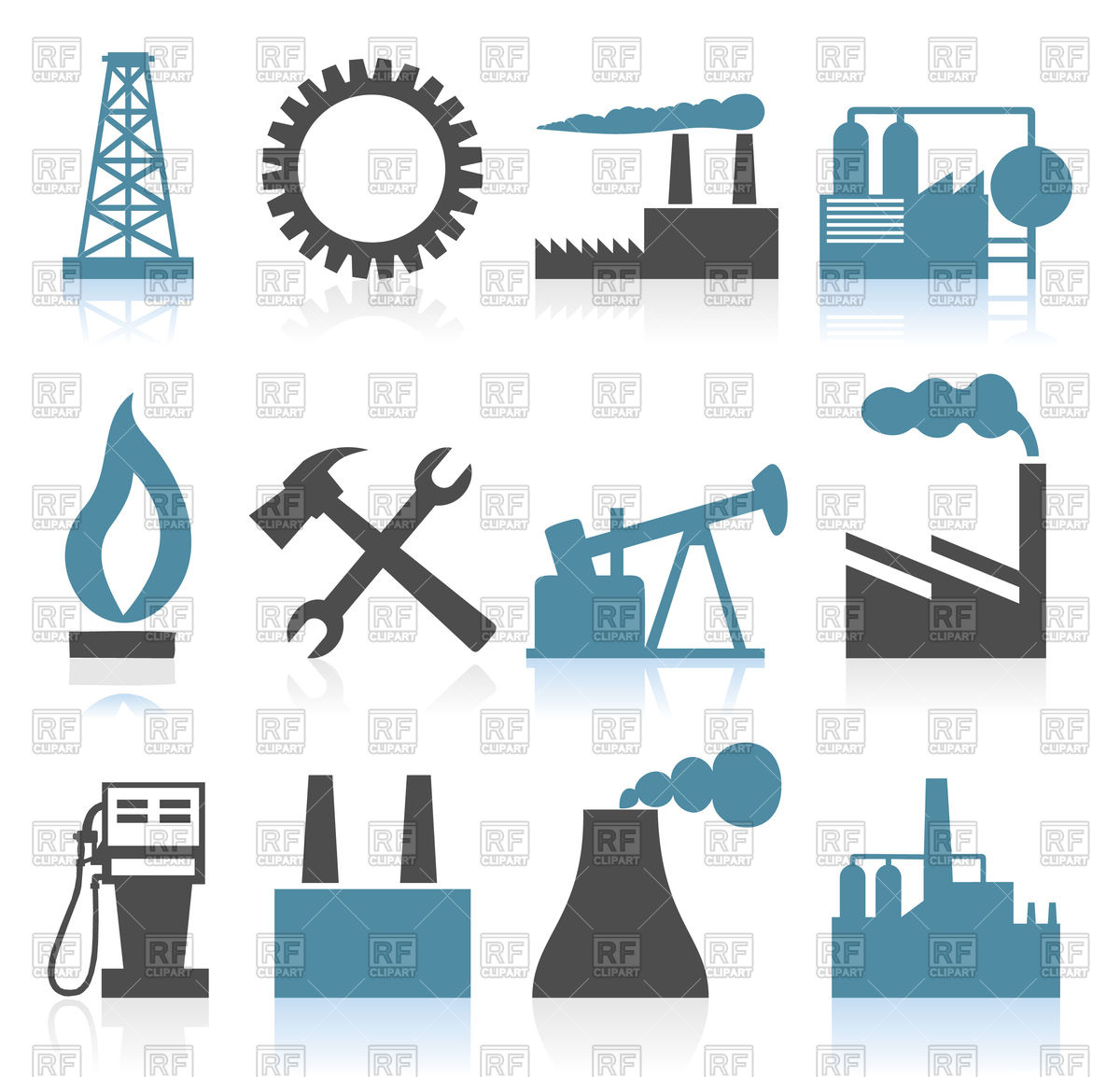 1200x1154 Set Of Theme Industry Icons Vector Image Vector Artwork Of Signs