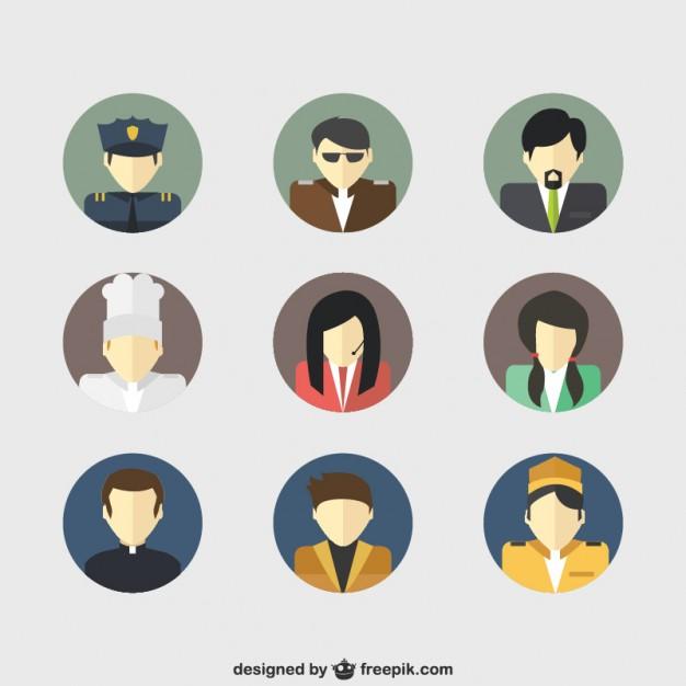 626x626 Job Avatars Vector Free Download