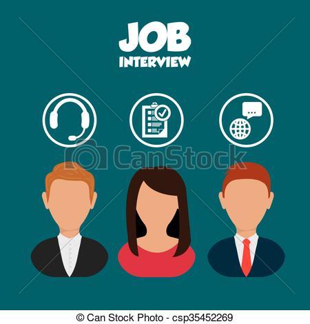 450x470 Job Interview Icon Design. Jobs Concept With Icon Design, Vector