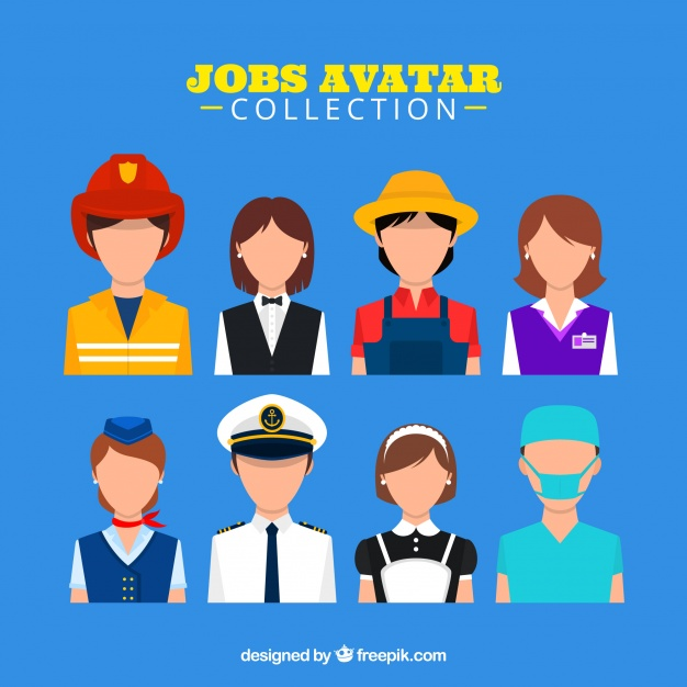 626x626 Jobs Avatar Collection With Modern Style Vector Free Download