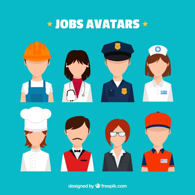 626x626 Modern Pack Of Jobs Avatars Vector Free Download