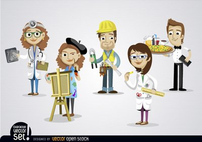 400x281 Free People Working In Different Jobs Psd Files, Vectors