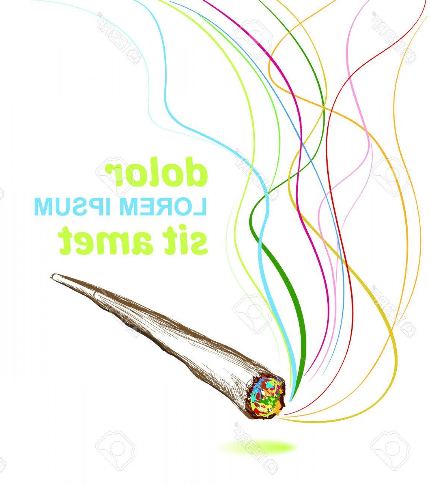 1381x1560 Photostock Vector Joint Smoking Weed Background Arenawp