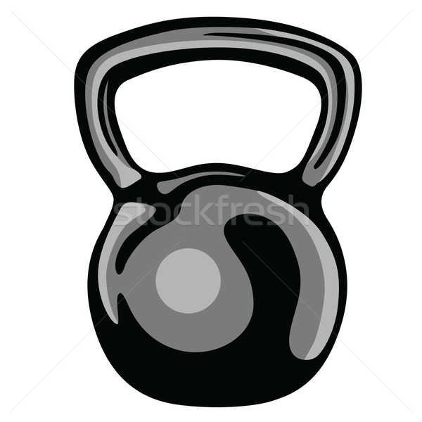 600x600 Kettlebell Fitness Equipment Clipart Vector Vector Illustration