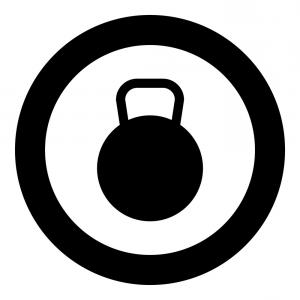 300x300 Kettlebell Icon Black Color In Circle Or Round Vector Lazttweet