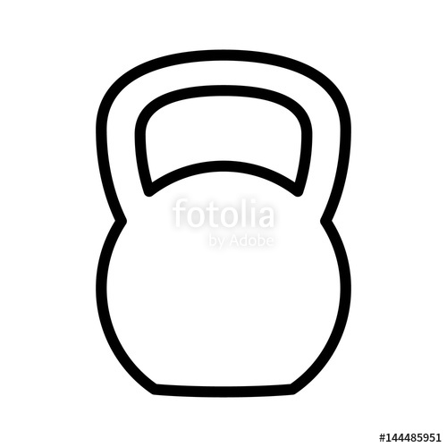 500x500 Kettlebell Or Girya Weight Training Equipment Flat Vector Icon For