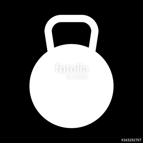 500x500 Kettlebell The White Color Icon . Stock Image And Royalty Free