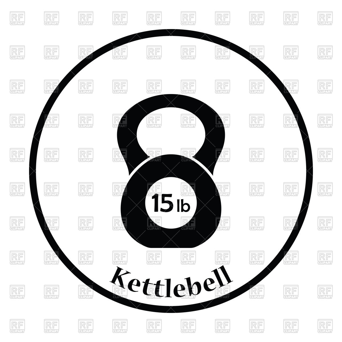 1200x1200 Silhouette Of Kettlebell Icon Vector Image Vector Artwork Of